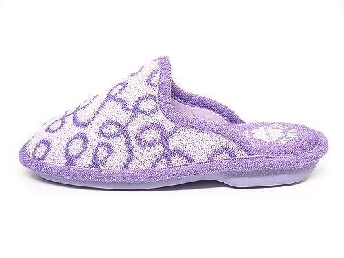 Zapatilla mujer para andar por casa BIORELAX - Suapel color lila - 4072 - 30 (