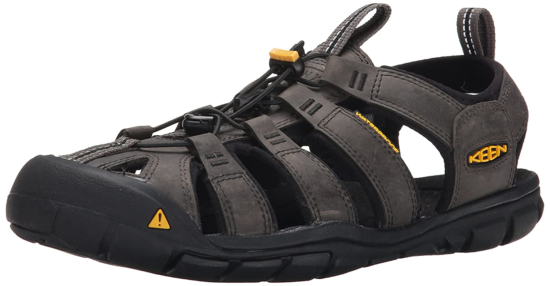 Keen Clearwater CNX Leather, Sandalias de Senderismo Para Hombre 44 EU|Negro (Magnet/Black Magnet/Black)