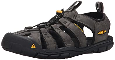 KEEN Mens Clearwater CNX Leather Water Sandal MagnetBlack