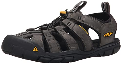 Keen Clearwater CNX Leather, Sandalias de Senderismo Para Hombre, Negro (Magnet/Black Magnet/Black), 44.5 EU amazon-shoes el-negro Cuero
