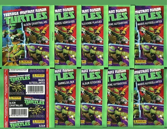10 packs Panini 2014 Unopened lot TMNT Stickers 10 PACKS ...