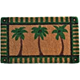 Imports Décor Decorated Coir Doormat, Palm Tree, 18 by 30-Inch