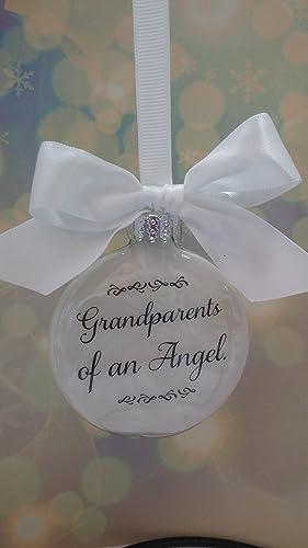amazon com memorial christmas ornament grandparents of an angel w