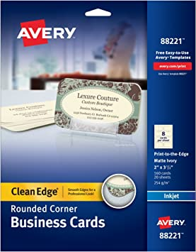 Amazon.com: Avery two-side Printable Clean Edge redondeadas ...