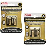 Kidde 21025830 Power Source Replacement Batteries 2 pack (total of 4 batteries)
