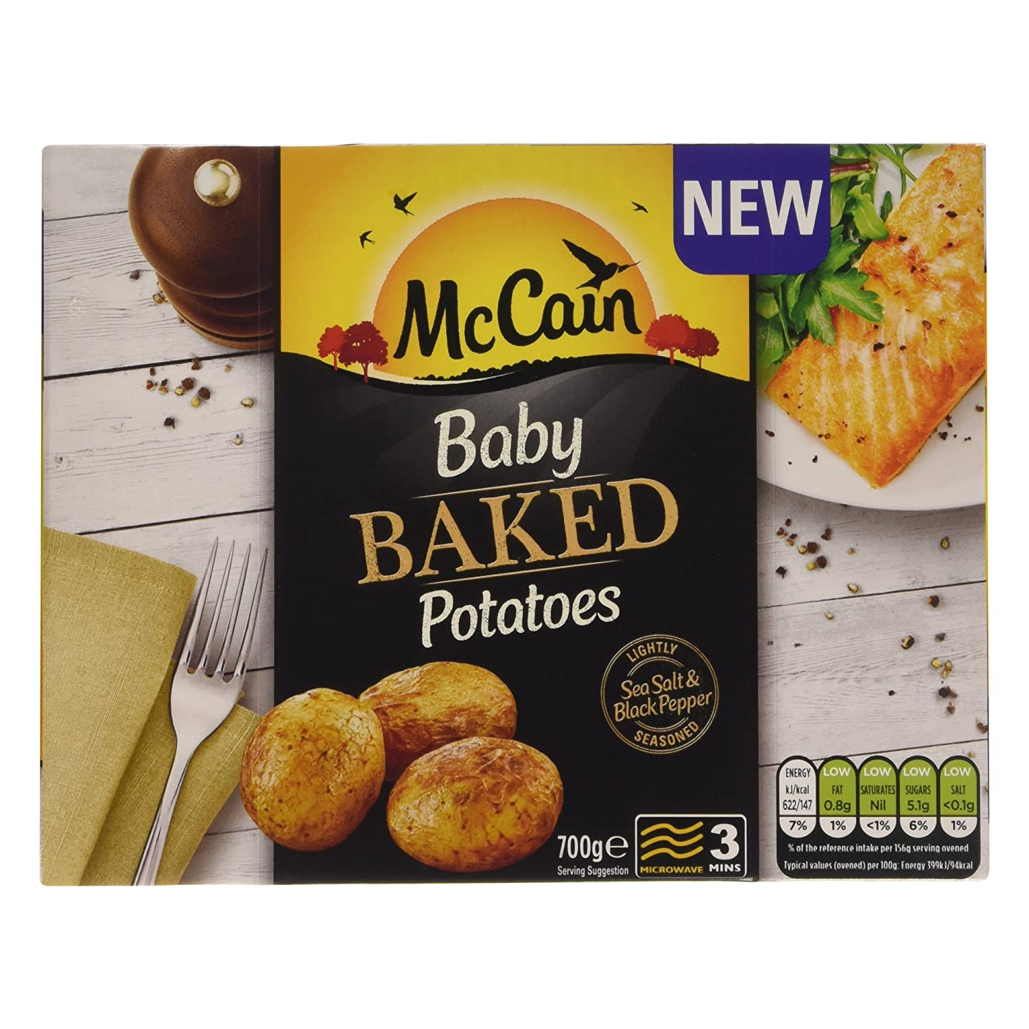Mccain Baby Baked Potatoes 700g Frozen Amazoncouk Grocery