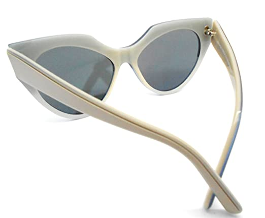 df6830cda8 Amazon.com  Andy Wolf Millicent Col.c Silver Grey Sunglasses with mirror  lenses  Clothing