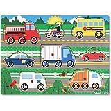 Melissa & Doug Vehicles Wooden Peg Puzzle (8 pcs)