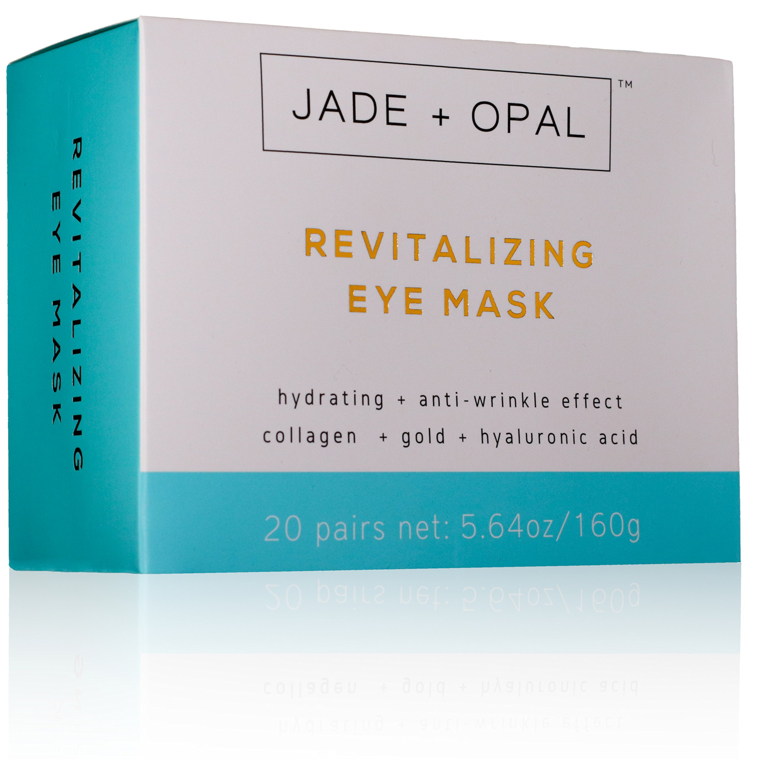Jade and Opal Gold Collagen Revitalizing Eye Mask, 20 Pairs (Pack of 1) by Jade and Opal (Image #6)