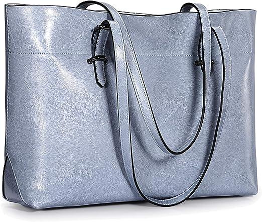 Bolso de hombro para mujer, de S ZONE, de estilo clásico y cuero, versión mejorada.