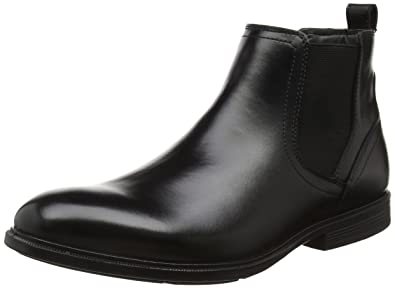 Hush Puppies Black leather 'Deacon Mainstreet' Chelsea boots