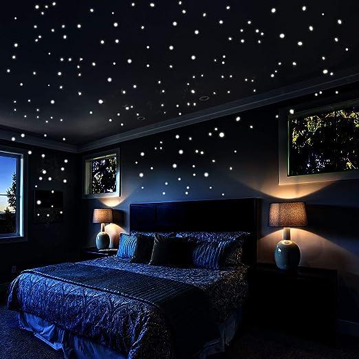 leuchtende Wandsticker selbstklebend * Sternenhimmel Kinderzimmer Deko
