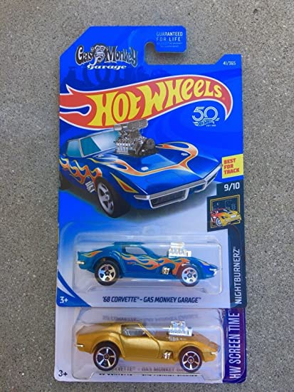 Amazoncom Hot Wheels Gas Monkey Garage Corvette In Gold And Blue - Gas monkey aston martin sale price