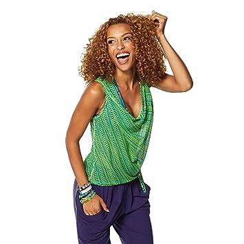 Zumba Fitness® Z1T01043 - Camisetas sin Mangas, Color Verde, Talla M/L: Amazon.es: Deportes y aire libre