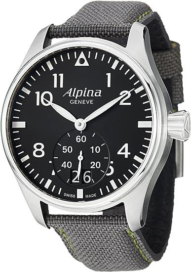 Alpina AL280B4S6 - Reloj para hombres, correa de tela color gris: Amazon.es: Relojes