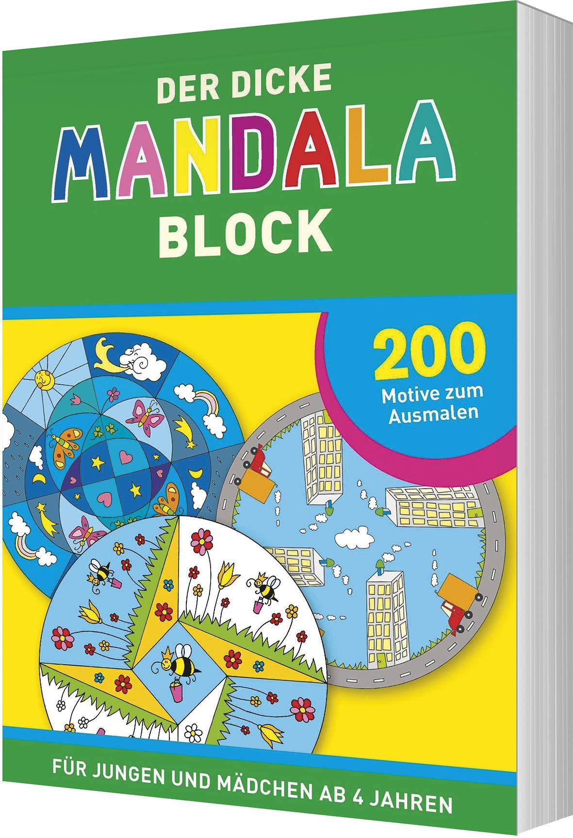 Der Dicke Mandala Block 200 Motive Zum Ausmalen Fur Jungen Und