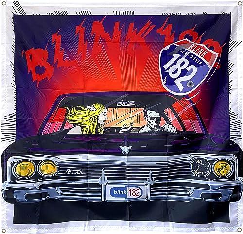 Astany Blink 182 flag California Tapestry Panorama Skull Flag Art Poster 4×4 ft banner