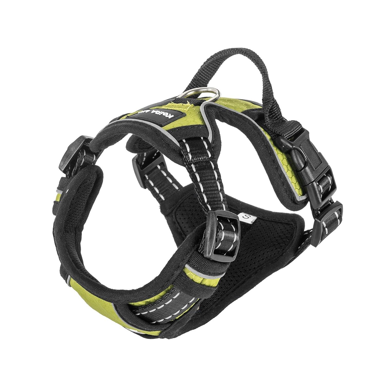 Harnais anti-traction Koira Odin pour chien - ergonomique, rembourré, réglable, de haute qualité, doté de clips avant et arrière rembourré réglable de haute qualité Koira UK