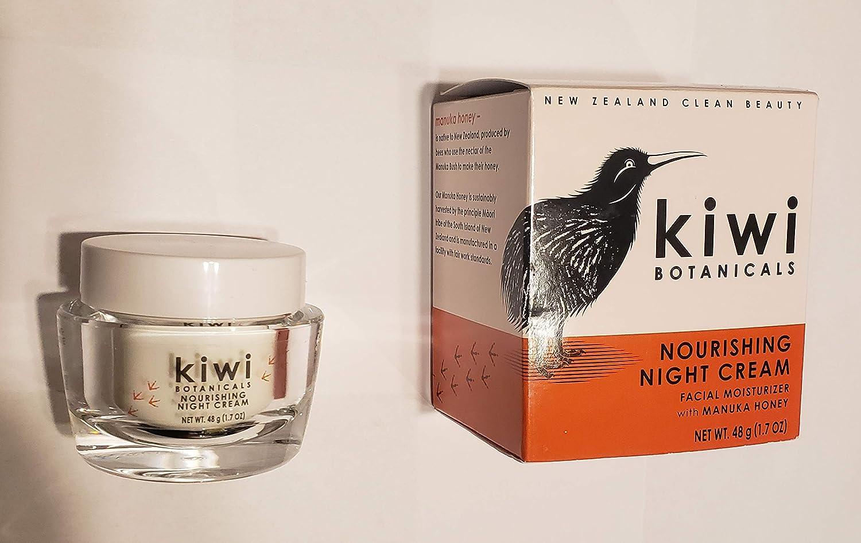 Kiwi Botanicals Nourishing Night Cream Facial Moisturizer with Manuka Honey, 2.0 oz