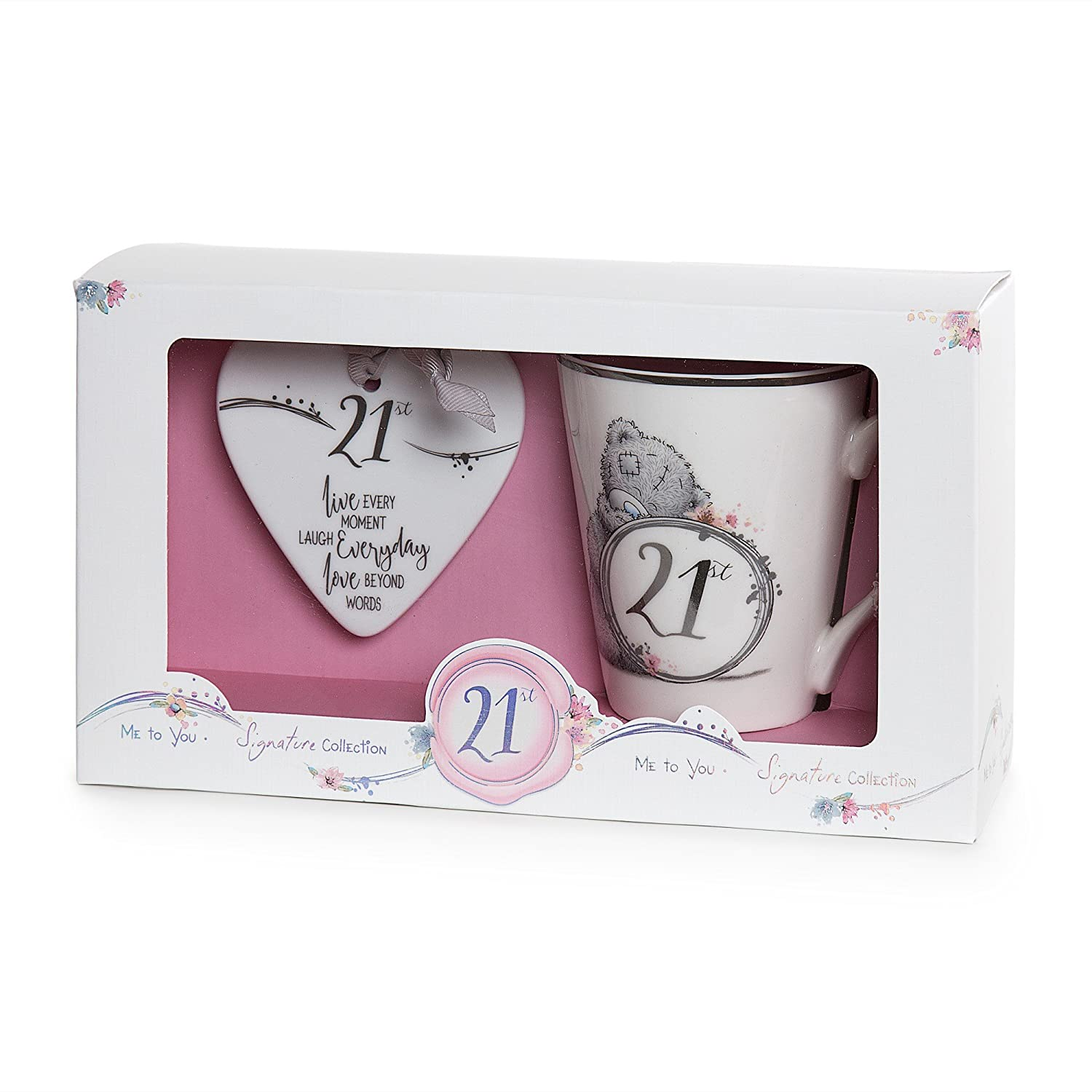 Me To You 21st Birthday Mug And Plaque Gift Set Amazoncouk Kitchen Home