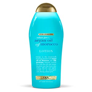 OGX Radiant Glow + Argan Oil of Morocco Extra Hydrating Lotion, 19.5 Fl Oz (Pack of 1)