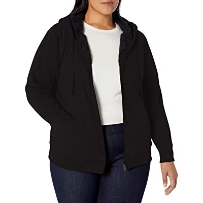 Essentials Women's Plus Size Sherpa-Lined Full-Zip Hoodie: Clothing