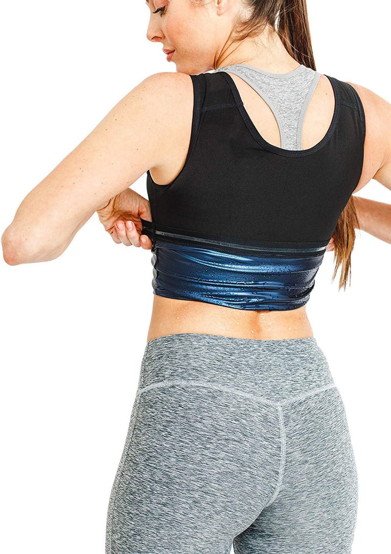 Hengyuany Ropa de musculaci/ón para Hombres y Mujeres quemagrasas Abdomen Fitness Chaleco Deportivo para Correr Yoga Ropa Deportiva para Culturismo