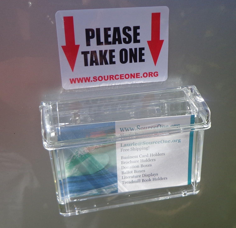 S1-OBC-MAG Source One transparenter Deckel magnetisch Outdoor Fahrzeug Visitenkartenhalter Freie Au/ßen Aufkleber wie abgebildet