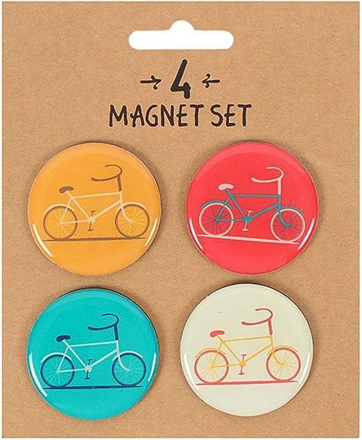 Imanes de nevera Retro bicicleta imanes Pack de 4 regalo del día ...