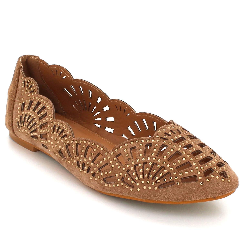 AARZ LONDON Women Ladies Everyday Ballerina Ballet Comfort Dolly Pump Casual Flats Diamante Evening Shoes Size L1743