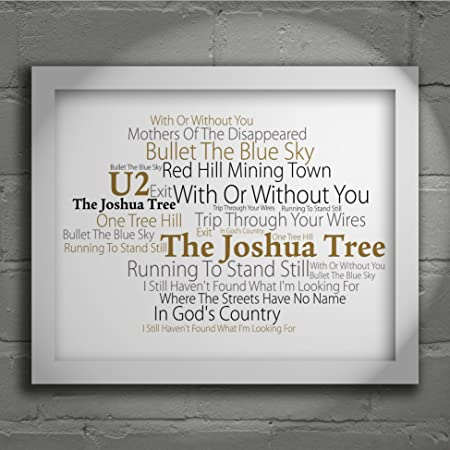U2 - The Joshua Tree - Signed u0026 Numbered Limited Edition Typography Unframed 10x8 Inch Album & U2 - The Joshua Tree - Signed u0026 Numbered Limited Edition Typography ...