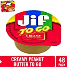 Jif To Go Creamy Peanut Butter, On the Go Pack 1.5 Ouncess, Box of 8 (6 Pack)