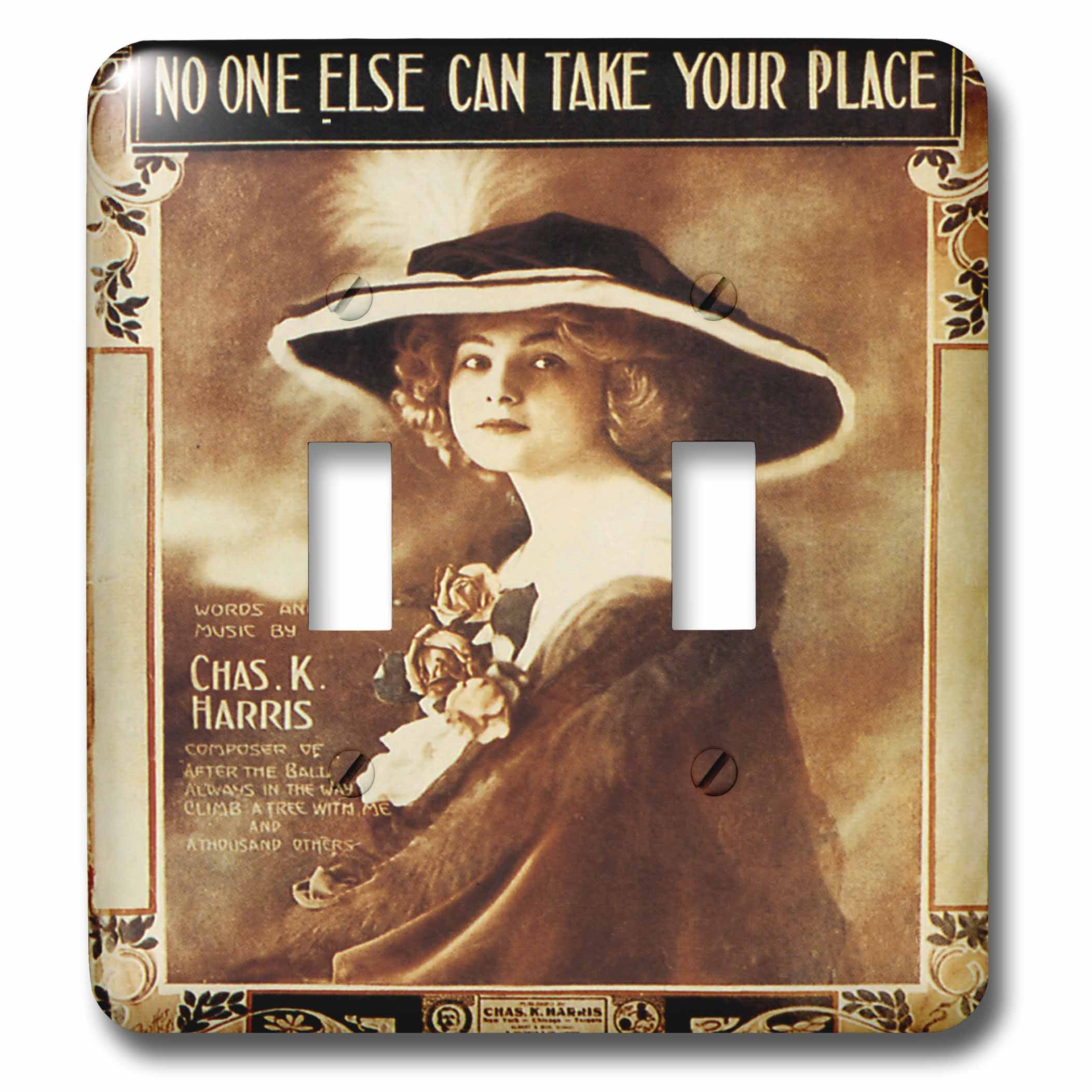 3dRose lsp_171004_2 No One Else Can Take Your Place Pretty Woman In A Large Hat Toggle Switch