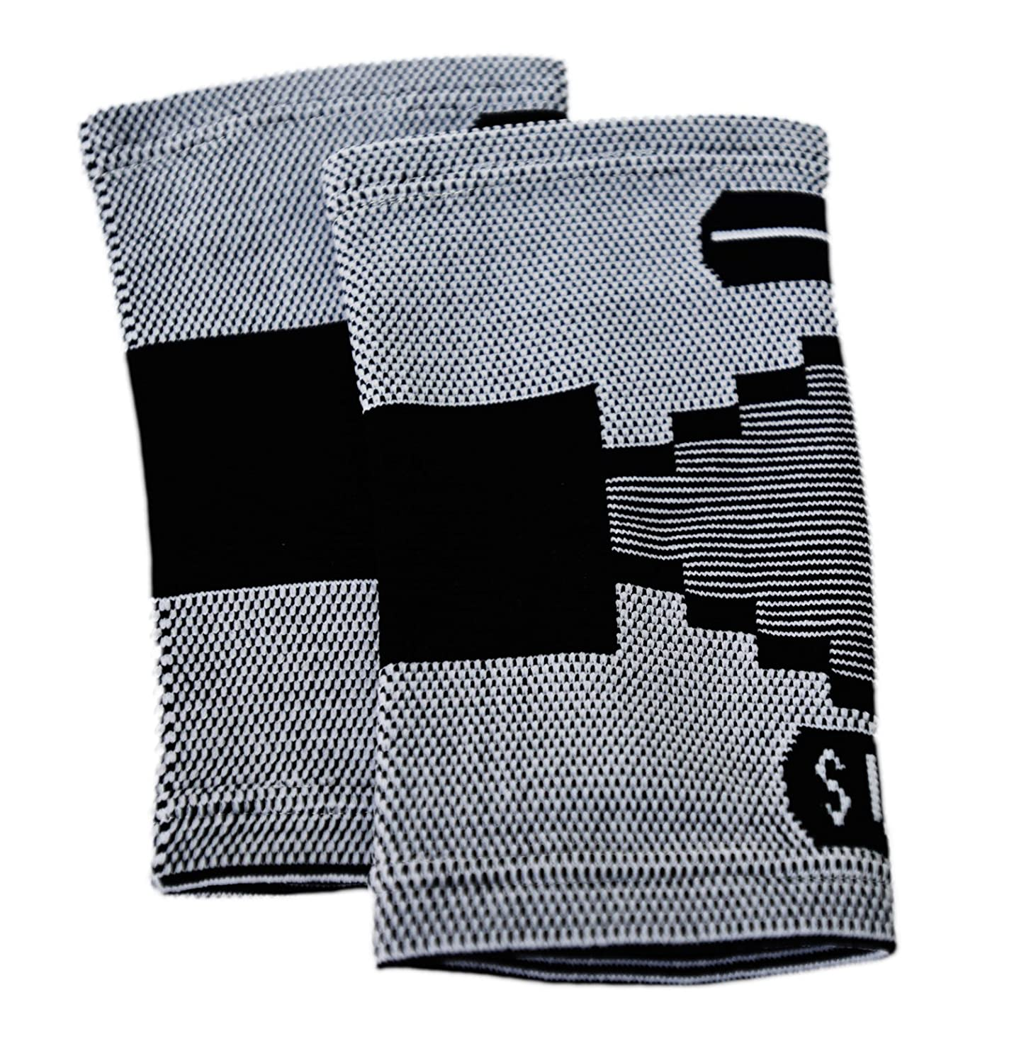 2 Classic Elbow Support Sleeves By Susama: Medium/Large - #1 Tennis Elbow Brace for Men + Women -...