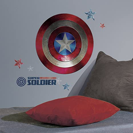Magnificent Roommates Rmk3247Gm Captain America Shield Civil War Peel Pdpeps Interior Chair Design Pdpepsorg