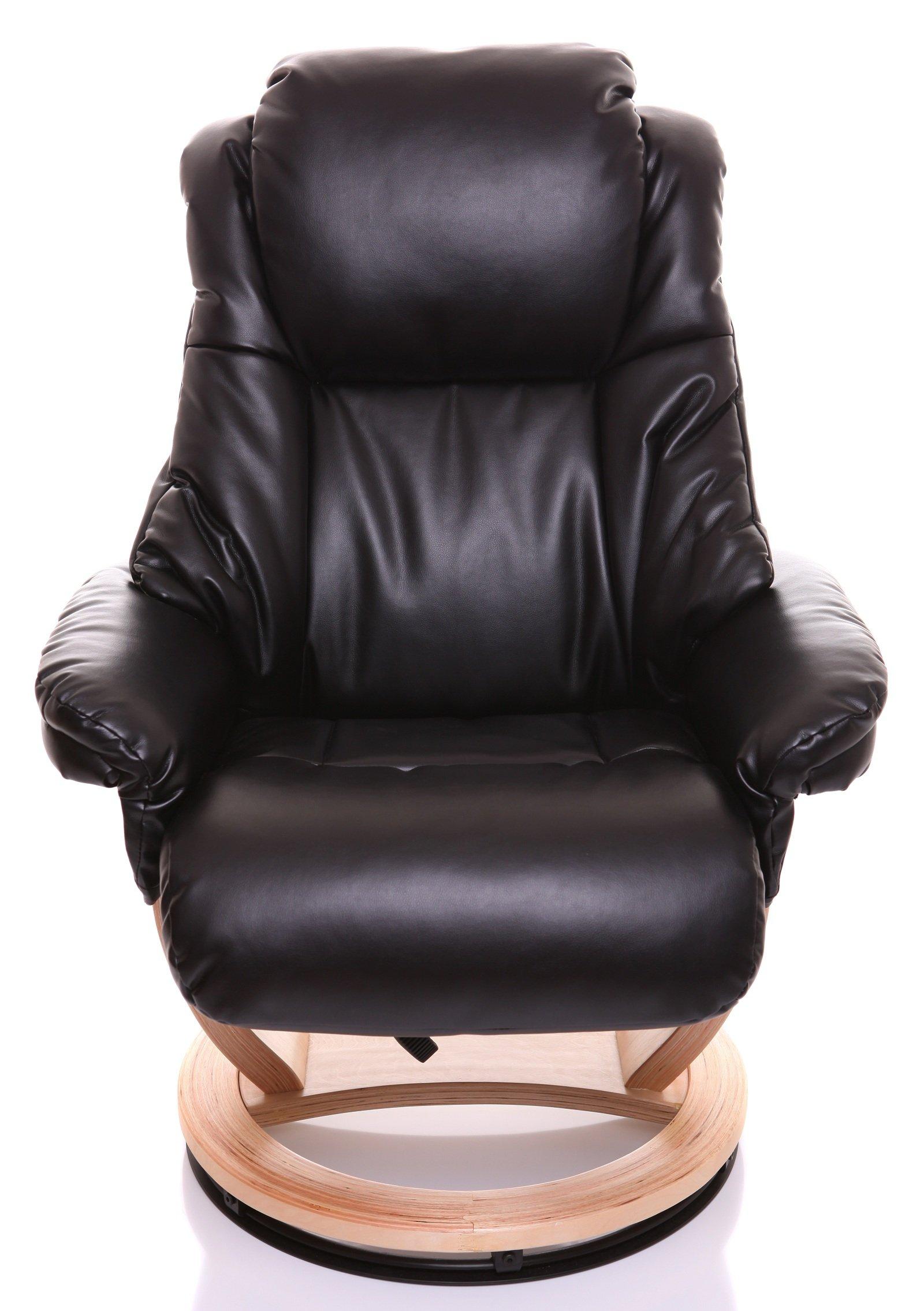 The Mars Premium Genuine Leather Swivel Recliner Chair