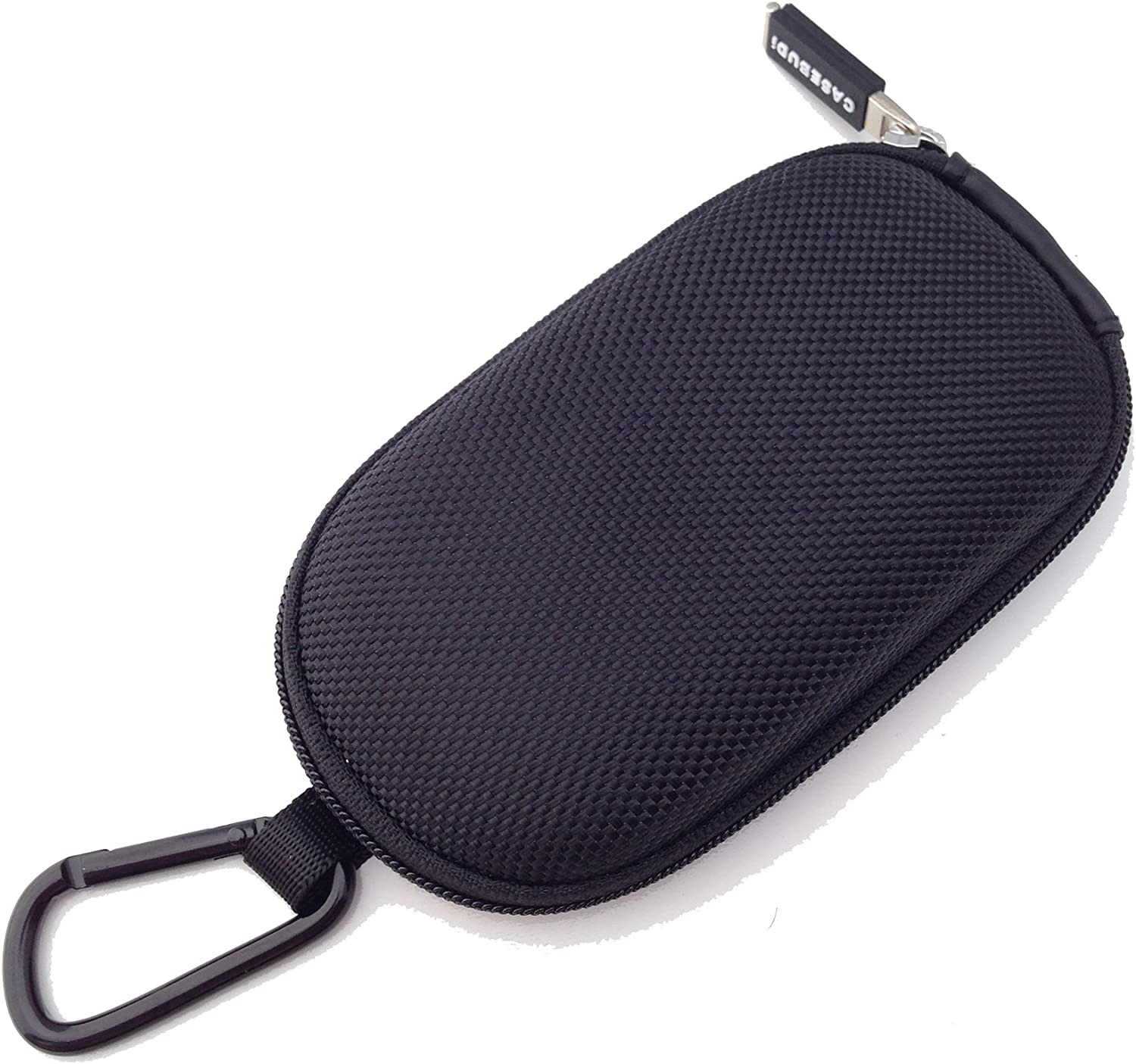 CASEBUDi Tough Travel Carrying Case for Apple Magic Mouse 1 and 2 | Hard Shell Ballistic Nylon (Black)