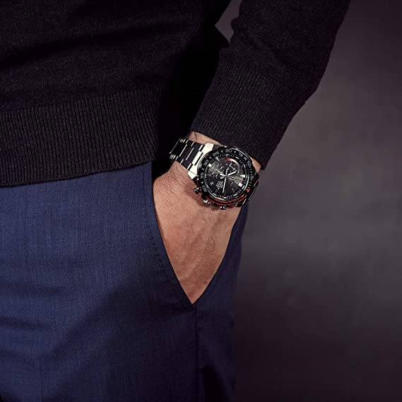 Casio Homme Chronographe Quartz Montre avec Bracelet en  OQVQB