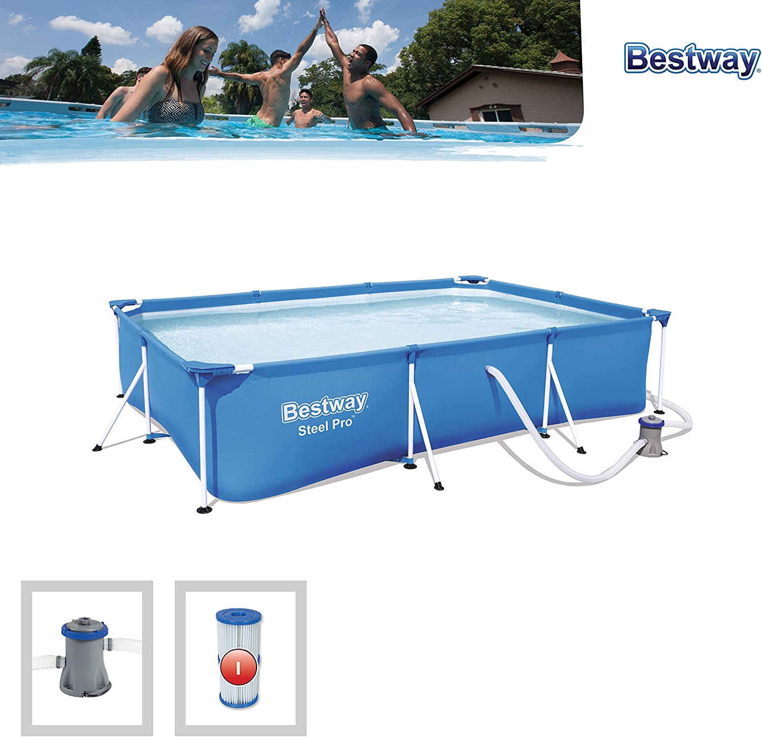 Bestway 56411 - Piscina Desmontable Tubular Infantil Deluxe Splash ...