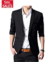 Geek Lighting Mens Slim Fit Single One Button Blazer Jackets
