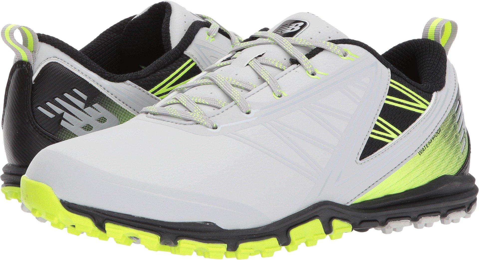 New Balance Men's Minimus SL Golf Shoe, Grey/Green, 7 2E 2E US