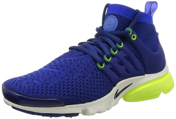 the latest 45195 e28cb Nike Womens air Presto Flyknit Ultra Running Trainers 835738 Sneakers Shoes  (US 7, deep Royal Blue Summit White 401)  Amazon.in  Shoes   Handbags