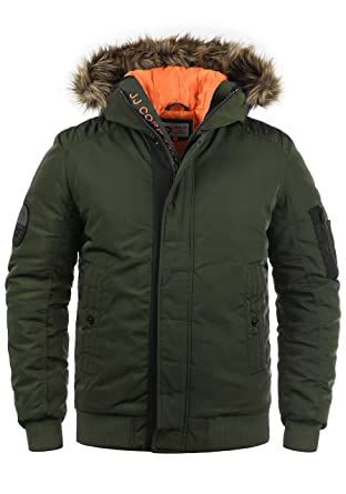 the latest 9baac 5922e JACK & JONES Core Jaimy Herren Jacke Herrenjacke warme Übergangsjacke  Bomberjacke gefüttert mit Kapuze und Fellkragen