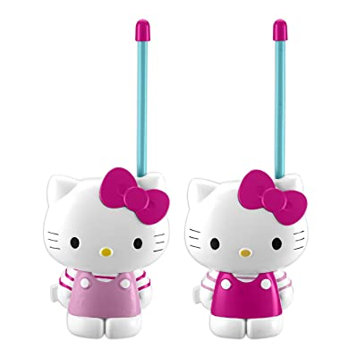 Hello Kitty Walkie Talkies for Kids Static Free Extended Range Kid Friendly Easy to Use 2 Way Walkie Talkies: Toys & Games
