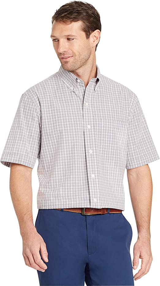 Arrow Mens Big /& Tall Blue Green or Gray Woven Plaid Shirt Button-Down New $60