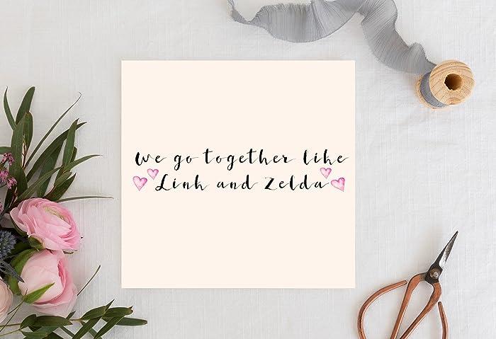 Valentine S Day Card We Go Together Like Link And Zelda