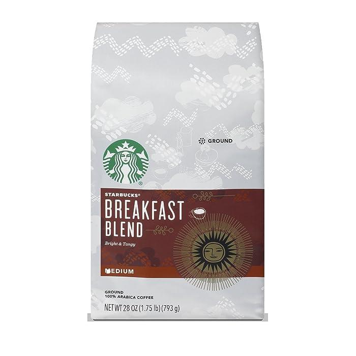 Starbucks Breakfast Blend Medium Roast Ground Coffee, 28 Ounce (Pack of 1) bag