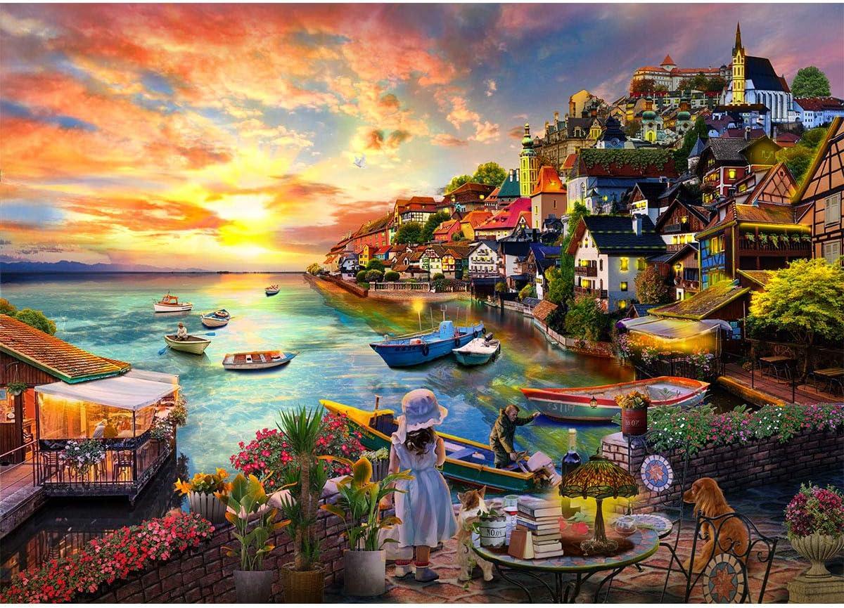 STARTOSTAR Jigsaw Puzzle 1000 Piece Dreamy Positano/_Amalfi Coast Large Puzzle Game Artwork for Adults Teens