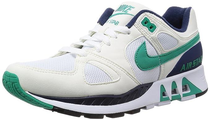 new concept 9d046 d5b79 Nike Air Stab Hombre Blanco Piel Zapato para Correr Talla EU 46 Amazon.es  Ropa y accesorios
