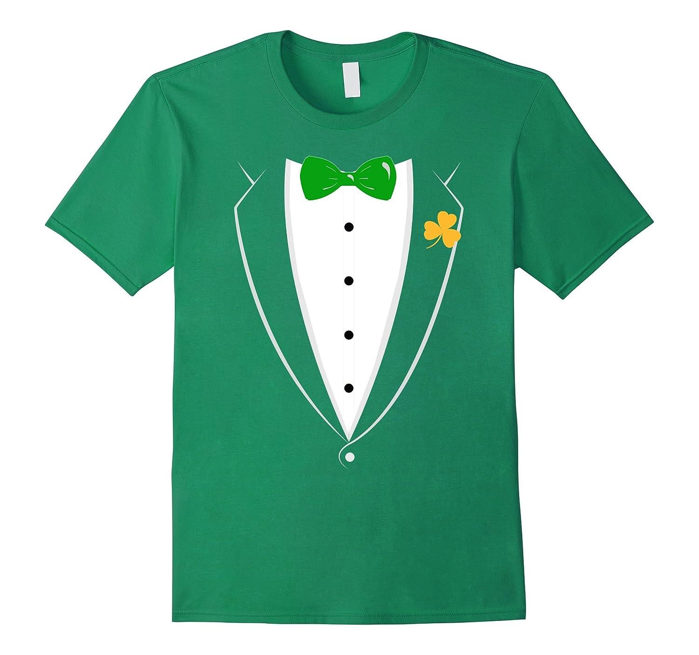 Saint Patricks Day Tuxedo Beer Drinking T Shirt-TD